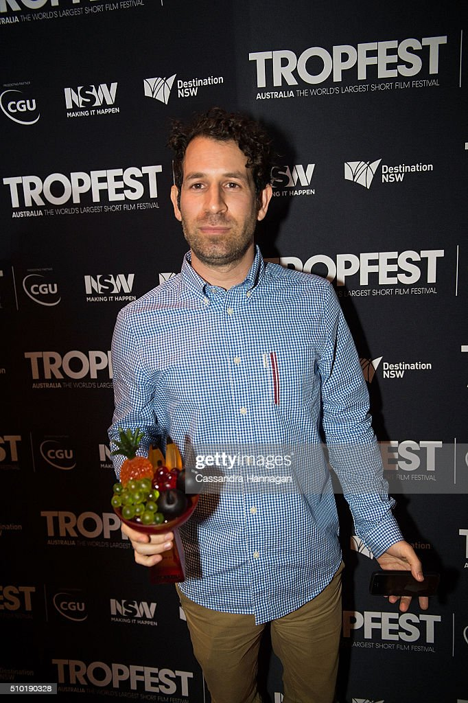 Director Spencer Susser, winner of Tropfest with his film 'Shiny', poses for photos during Tropfest 2016 at Centennial Park on February 14, 2016 in Sydney, Australia. .
