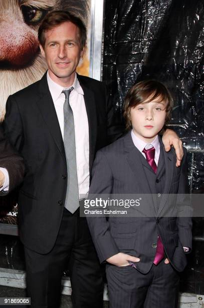 Director Spike Jonze and actor Max Records attend the 'Where The Wild Things Are' premiere at Alice Tully Hall on October 13 2009 in New York City