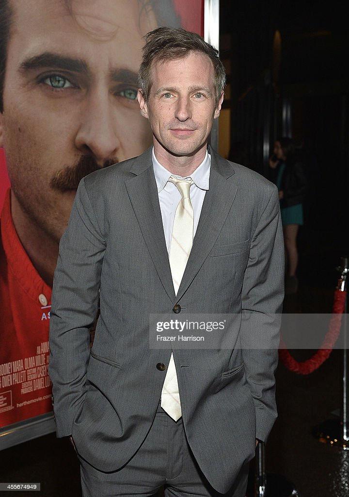Director <a gi-track='captionPersonalityLinkClicked' href=/galleries/search?phrase=Spike+Jonze&family=editorial&specificpeople=2619298 ng-click='$event.stopPropagation()'>Spike Jonze</a> attends the premiere of Warner Bros. Pictures 'Her' at DGA Theater on December 12, 2013 in Los Angeles, California.