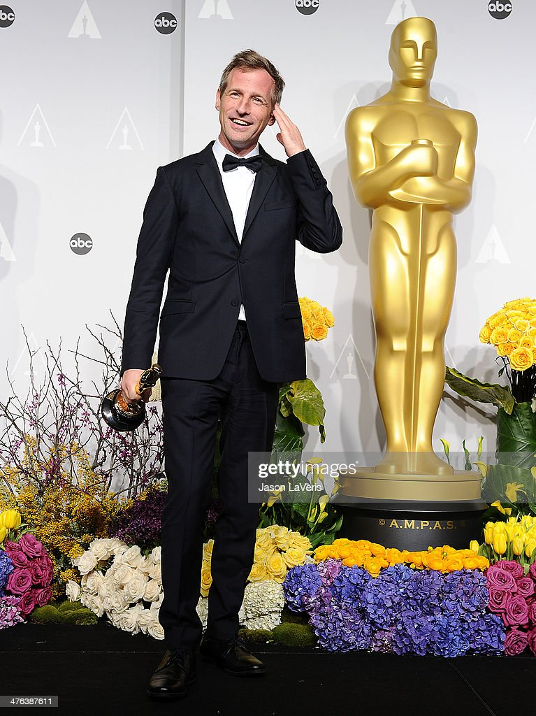 Director Spike Jonze poses in the press room at the 86th annual Academy Awards at Dolby Theatre on March 2, 2014 in Hollywood, California.