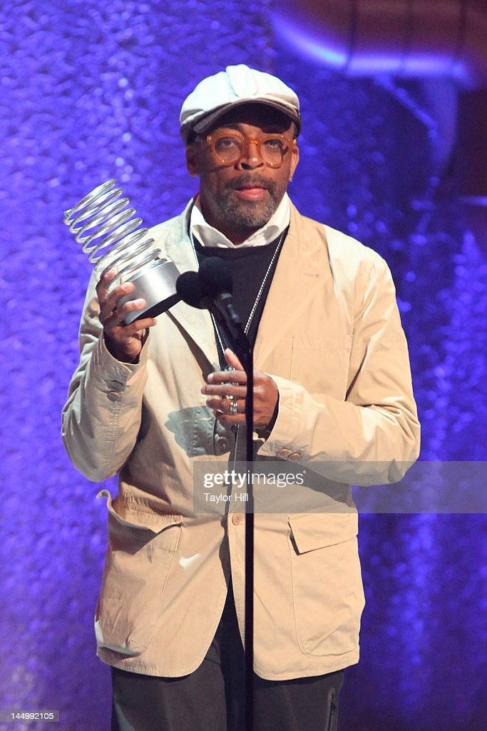 Director Spike Lee accepts an award at the 16th Annual Webby Awards at Hammerstein Ballroom on May 21, 2012 in New York City.