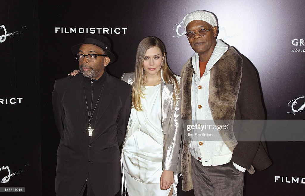 Director <a gi-track='captionPersonalityLinkClicked' href=/galleries/search?phrase=Spike+Lee&family=editorial&specificpeople=156419 ng-click='$event.stopPropagation()'>Spike Lee</a>, actors <a gi-track='captionPersonalityLinkClicked' href=/galleries/search?phrase=Elizabeth+Olsen&family=editorial&specificpeople=5775031 ng-click='$event.stopPropagation()'>Elizabeth Olsen</a> and <a gi-track='captionPersonalityLinkClicked' href=/galleries/search?phrase=Samuel+L.+Jackson&family=editorial&specificpeople=167234 ng-click='$event.stopPropagation()'>Samuel L. Jackson</a> attend the FilmDistrict & Complex Media with The Cinema Society & Grey Goose screening of 'Oldboy' at AMC Lincoln Square Theater on November 11, 2013 in New York City.