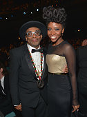 Director Spike Lee and actress Teyonah Parris attend the 47th NAACP Image Awards presented by TV One at Pasadena Civic Auditorium on February 5 2016...