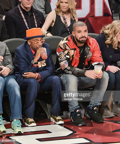 Director Spike Lee and Drake attend the 2016 NBA AllStar Game at Air Canada Centre on February 14 2016 in Toronto Canada