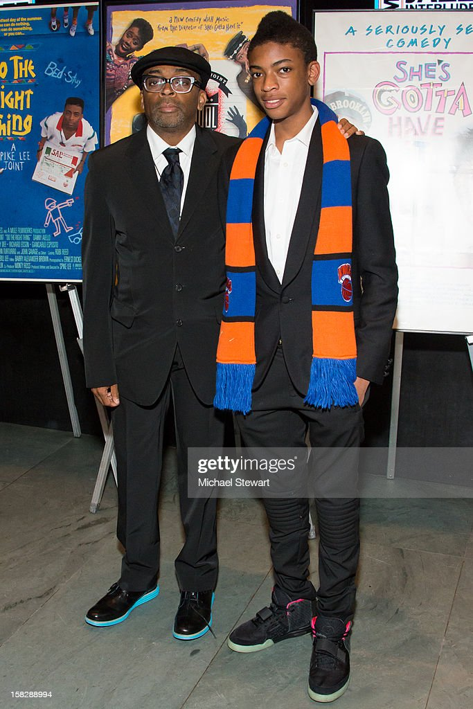 Director <a gi-track='captionPersonalityLinkClicked' href=/galleries/search?phrase=Spike+Lee&family=editorial&specificpeople=156419 ng-click='$event.stopPropagation()'>Spike Lee</a> (L) and Jackson Lee attend The Museum of Modern Art's Jazz Interlude Gala at Museum of Modern Art on December 12, 2012 in New York City.