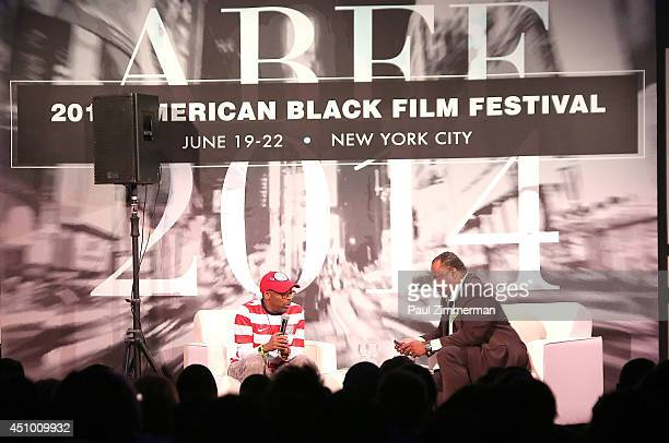 Director Spike Lee and journalist Roland Martin attend the 'Spike LeeYa Dig' career retrospective and celebration during the 2014 American Black Film...