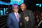 Director Spike Lee and professional boxer Floyd Mayweather attend the 2016 BET Awards at the Microsoft Theater on June 26 2016 in Los Angeles...
