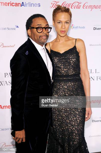 Director Spike Lee and Tonya Lewis Lee attend the BLUE Scholarship Gala to benefit Spelman College at The Plaza Hotel on October 4 2010 in New York...