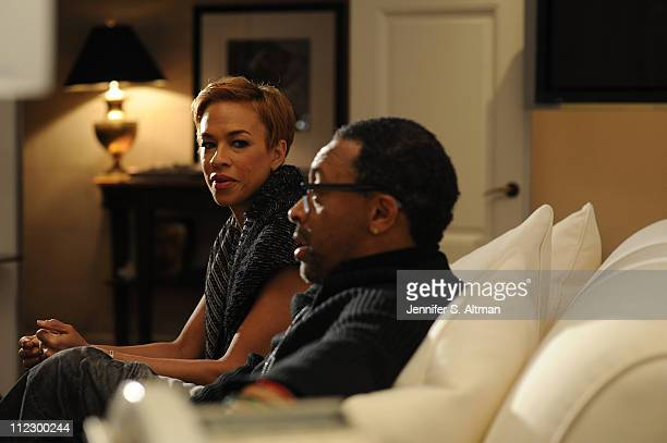 Director Spike Lee and wife Tonya Lee are photographed for USA Today on February 22 2011 in New York City