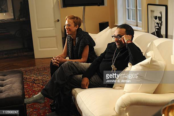 Director Spike Lee and wife Tonya Lee are photographed for USA Today on February 22 2011 in New York City Published Image