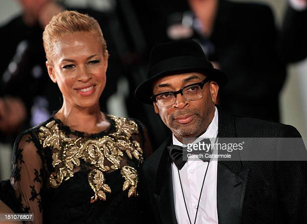 Director Spike Lee and wife Tonya Lewis attend the 'Bad25' Premiere And Jaeger Le Coultre Glory To The Filmmaker Award Ceremony during the 69th...