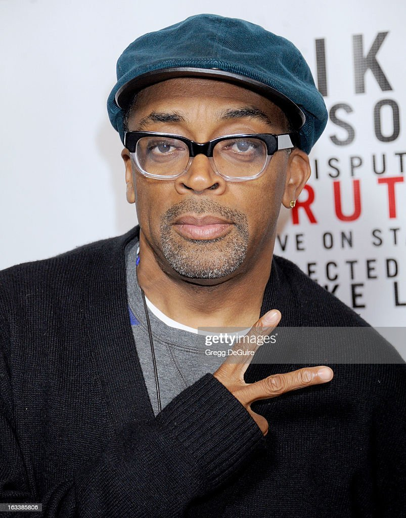 Director <a gi-track='captionPersonalityLinkClicked' href=/galleries/search?phrase=Spike+Lee&family=editorial&specificpeople=156419 ng-click='$event.stopPropagation()'>Spike Lee</a> arrives at the Los Angeles opening night of 'Mike Tyson - Undisputed Truth' at the Pantages Theatre on March 8, 2013 in Hollywood, California.
