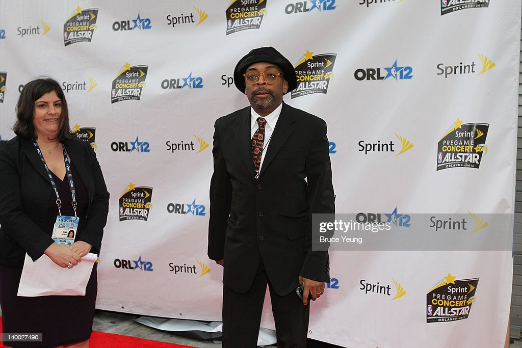 Director <a gi-track='captionPersonalityLinkClicked' href=/galleries/search?phrase=Spike+Lee&family=editorial&specificpeople=156419 ng-click='$event.stopPropagation()'>Spike Lee</a> arrives prior to the 2012 NBA All-Star Game presented by Kia Motors as part of 2012 All-Star Weekend at the Amway Center on February 26, 2012 in Orlando, Florida.