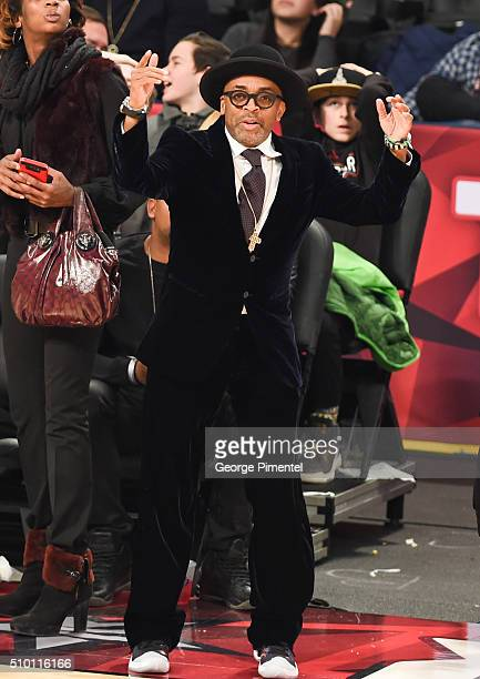 Director Spike Lee attends the 2016 NBA AllStar Saturday Night at Air Canada Centre on February 13 2016 in Toronto Canada
