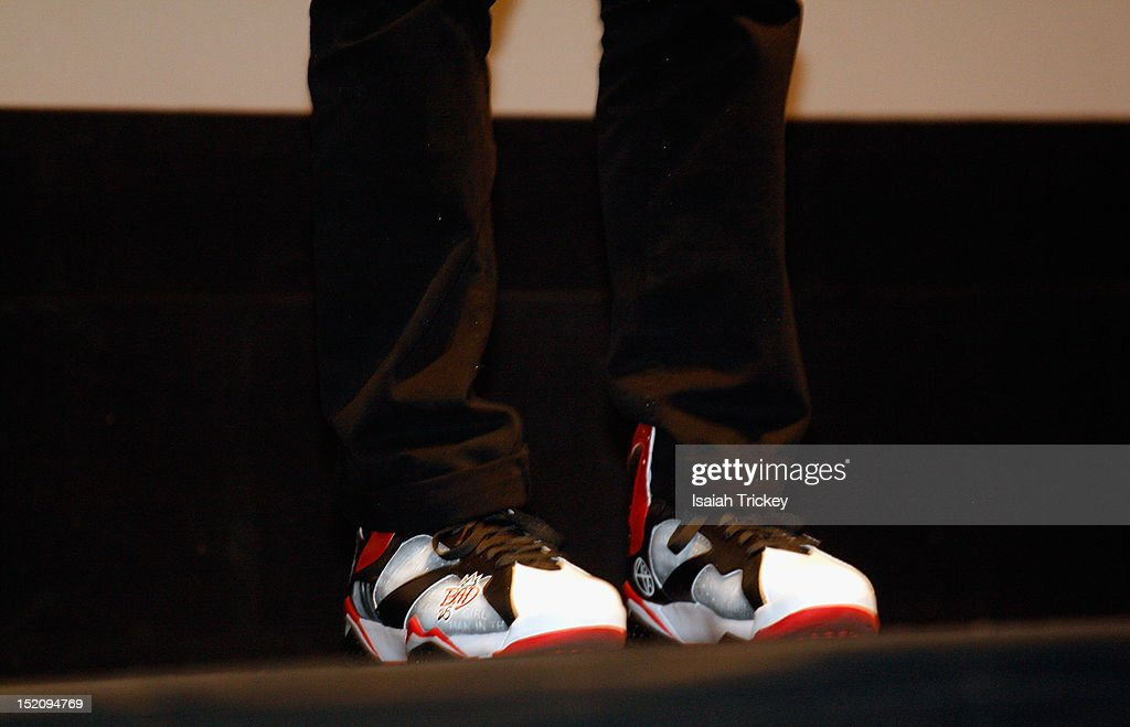 Director <a gi-track='captionPersonalityLinkClicked' href=/galleries/search?phrase=Spike+Lee&family=editorial&specificpeople=156419 ng-click='$event.stopPropagation()'>Spike Lee</a> (shoe detail) attends the 'Bad 25' Premiere at the 2012 Toronto International Film Festival at Ryerson Theatre on September 15, 2012 in Toronto, Canada.