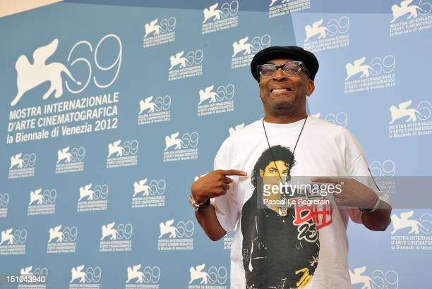 Director Spike Lee attends the 'Bad' And JaegerLe Coultre Glory To The Filmmaker 2012 Award photocall during the 69th Venice Film Festival at the...