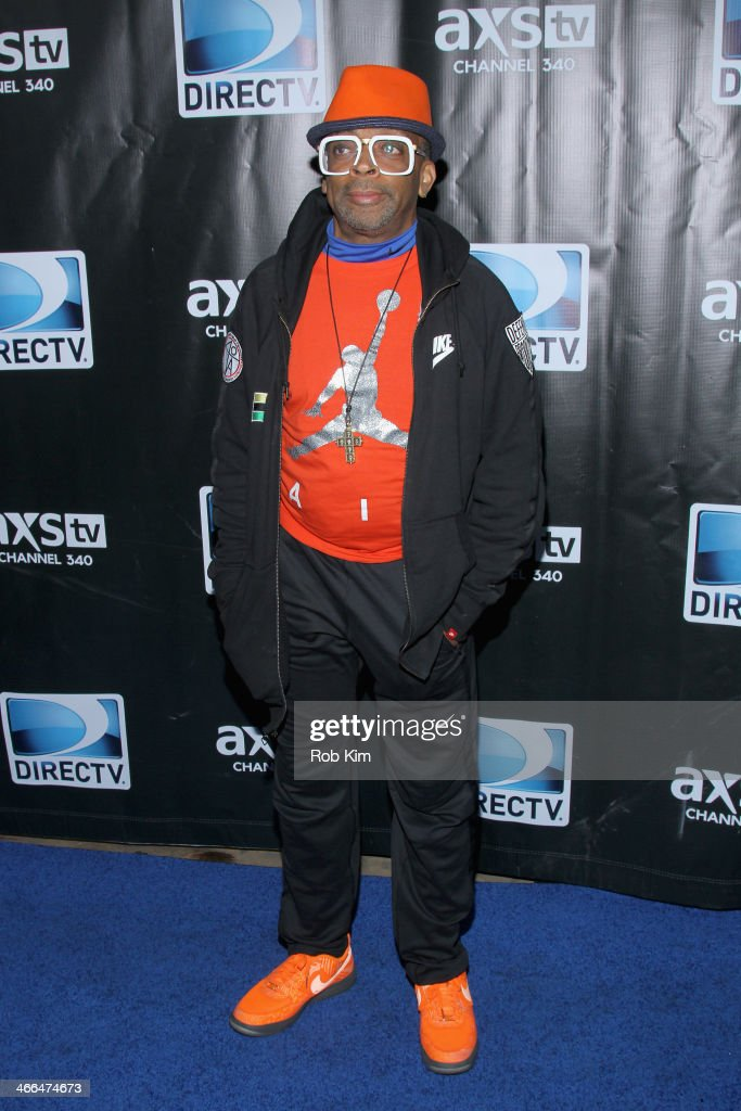 Director <a gi-track='captionPersonalityLinkClicked' href=/galleries/search?phrase=Spike+Lee&family=editorial&specificpeople=156419 ng-click='$event.stopPropagation()'>Spike Lee</a> attends the DirecTV Super Saturday Night at Pier 40 on February 1, 2014 in New York City.