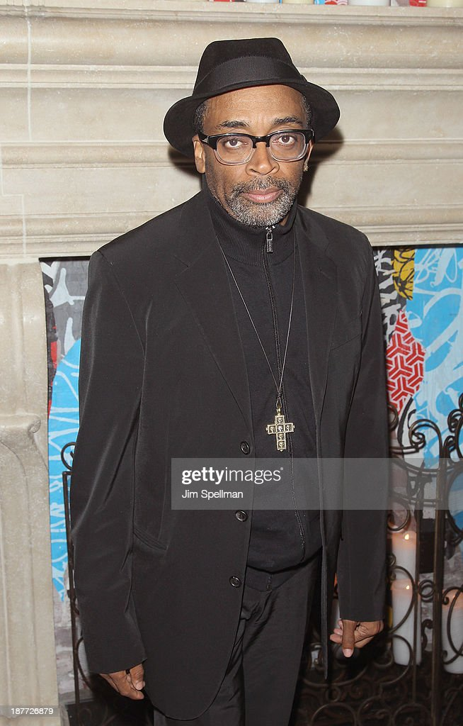 Director Spike Lee attends the FilmDistrict & Complex Media with The Cinema Society & Grey Goose screening of 'Oldboy' after party at TAO Downtown on November 11, 2013 in New York City.