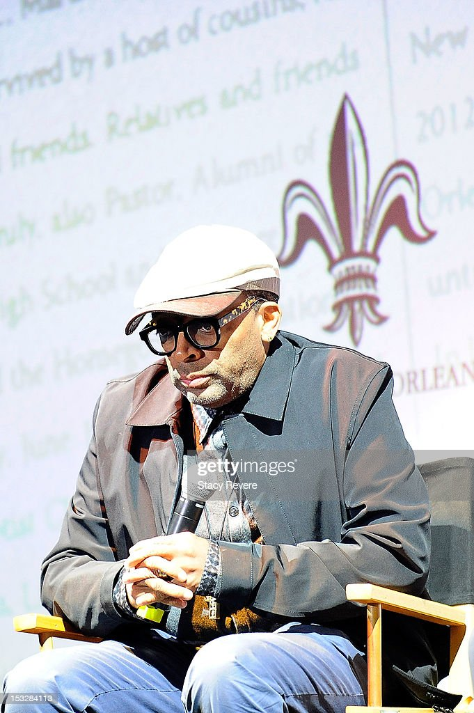 Director <a gi-track='captionPersonalityLinkClicked' href=/galleries/search?phrase=Spike+Lee&family=editorial&specificpeople=156419 ng-click='$event.stopPropagation()'>Spike Lee</a> attends the 'Flip the Script' Public Awareness campaign launch at The Joy Theater on October 2, 2012 in New Orleans, Louisiana.