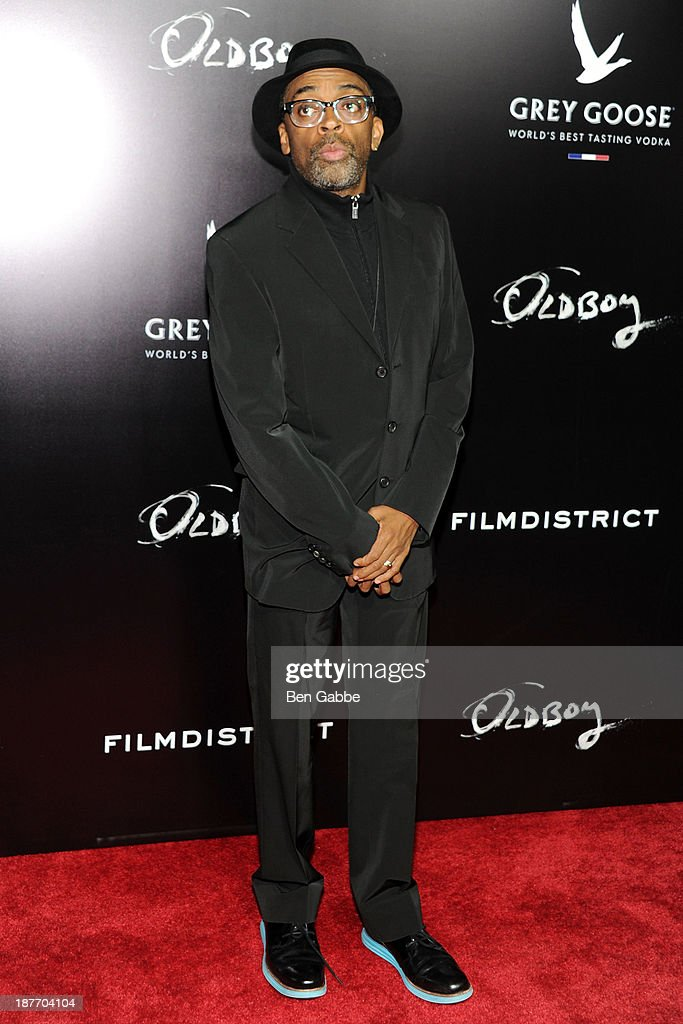 Director <a gi-track='captionPersonalityLinkClicked' href=/galleries/search?phrase=Spike+Lee&family=editorial&specificpeople=156419 ng-click='$event.stopPropagation()'>Spike Lee</a> attends the screening of 'Oldboy' hosted by FilmDistrict and Complex Media with the Cinema Society and Grey Goose at AMC Lincoln Square Theater on November 11, 2013 in New York City.