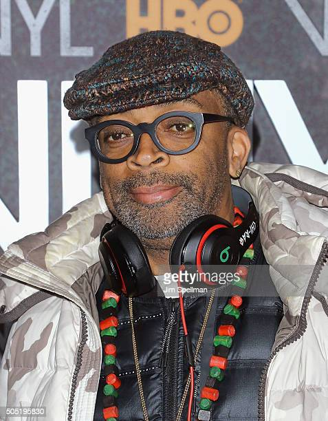 Director Spike Lee attends the 'Vinyl' New York premiere at Ziegfeld Theatre on January 15 2016 in New York City