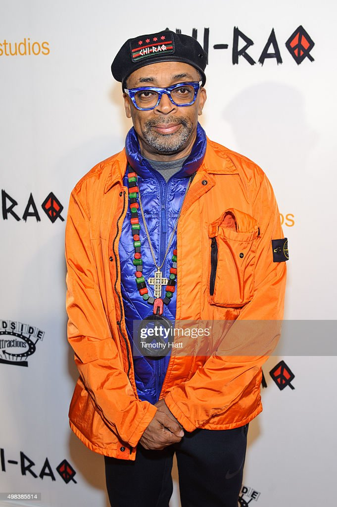Director <a gi-track='captionPersonalityLinkClicked' href=/galleries/search?phrase=Spike+Lee&family=editorial&specificpeople=156419 ng-click='$event.stopPropagation()'>Spike Lee</a> attends the world premiere of 'Chi-Raq' at The Chicago Theatre on November 22, 2015 in Chicago, Illinois.