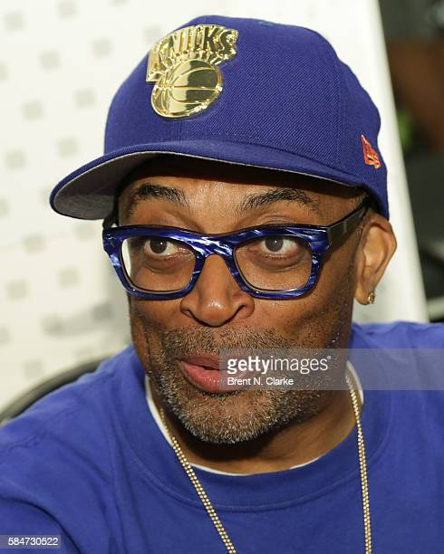 Director Spike Lee celebrates the 30th anniversary of 'She's Gotta Have It' with a book signing held at the Moleskine Store on July 30 2016 in New...