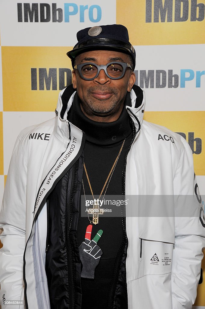 Director <a gi-track='captionPersonalityLinkClicked' href=/galleries/search?phrase=Spike+Lee&family=editorial&specificpeople=156419 ng-click='$event.stopPropagation()'>Spike Lee</a> in The IMDb Studio In Park City, Utah: Day Two - on January 23, 2016 in Park City, Utah.