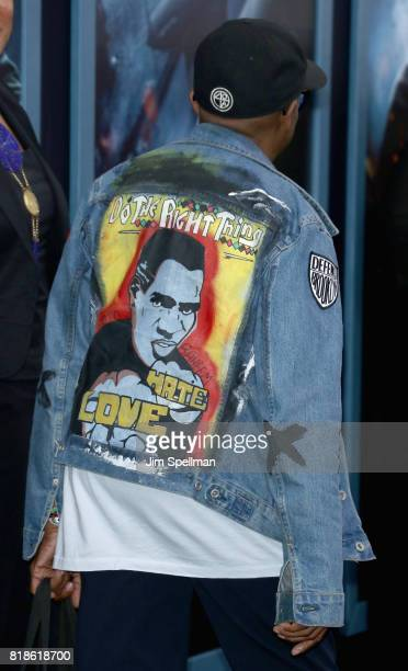 Director Spike Lee jacket detail attends the 'DUNKIRK' New York premiere at AMC Lincoln Square IMAX on July 18 2017 in New York City