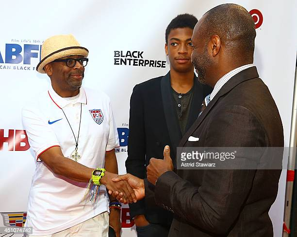 Director Spike Lee Jeff Friday and Jackson Lee attend 'Da Sweet Blood Of Jesus' world premiere during the 2014 American Black Film Festival at...