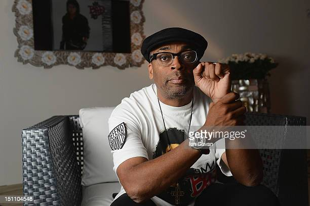 Director Spike Lee poses during a portrait session for JaegerLeCoultre during the 69th Venice Film Festival on August 31 2012 in Venice Italy