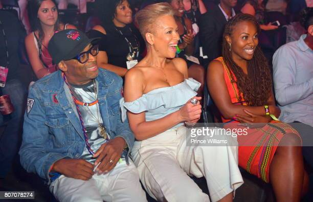 Director Spike Lee Tonya Lewis Lee and DeWanda Wise attend the 2017 ESSENCE Festival Presented by Coca Cola at the MercedesBenz Superdome on July 1...