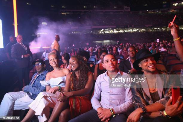Director Spike Lee Tonya Lewis Lee and the cast of Netflix's 'She's Gotta Have It' DeWanda Wise Anthony Ramos and Cleo Anthony in the audience at the...