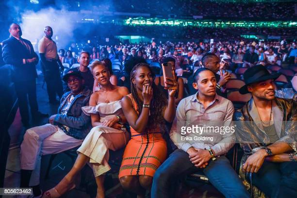 Director Spike Lee Tonya Lewis Lee and the cast of Netflix's 'She's Gotta Have It' DeWanda Wise Anthony Ramos and Cleo Anthony in the audience at...