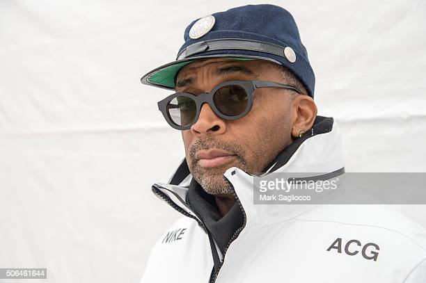 Director Spike Lee wearing Nike ACG All Condition Gear is seen around town during the Sundance Film Festival on January 23 2016 in Park City Utah