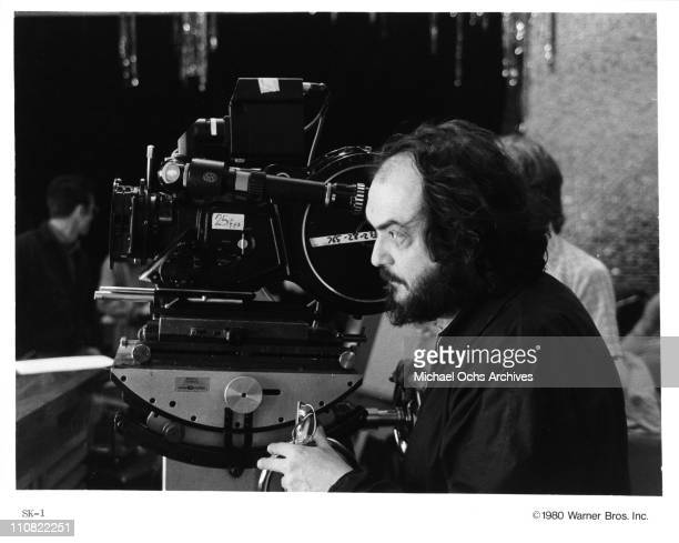 Director Stanley Kubrick on the set of the Warner Bros movie 'The Shining' in 1980 at Elstree Studios in Borehamwood Hertfordshire England