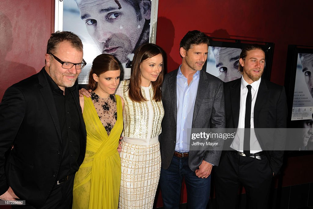 Director Stefan Ruzowitzky, actors Kate Mara, Olivia Wilde, Eric Bana and Charlie Hunnam arrive at the 'Deadfall' Los Angeles Premiere at ArcLight Hollywood on November 29, 2012 in Hollywood, California.