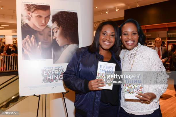 Director Stella Meghie and Author Nicola Yoon attend the 'Everything Everything' book signing at Indigo Eaton Centre on May 4 2017 in Toronto Canada