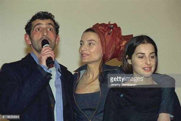 Director Stephane Giusti Elli Medeiros and Amira Casar at the UGC Cine Cite Bercy