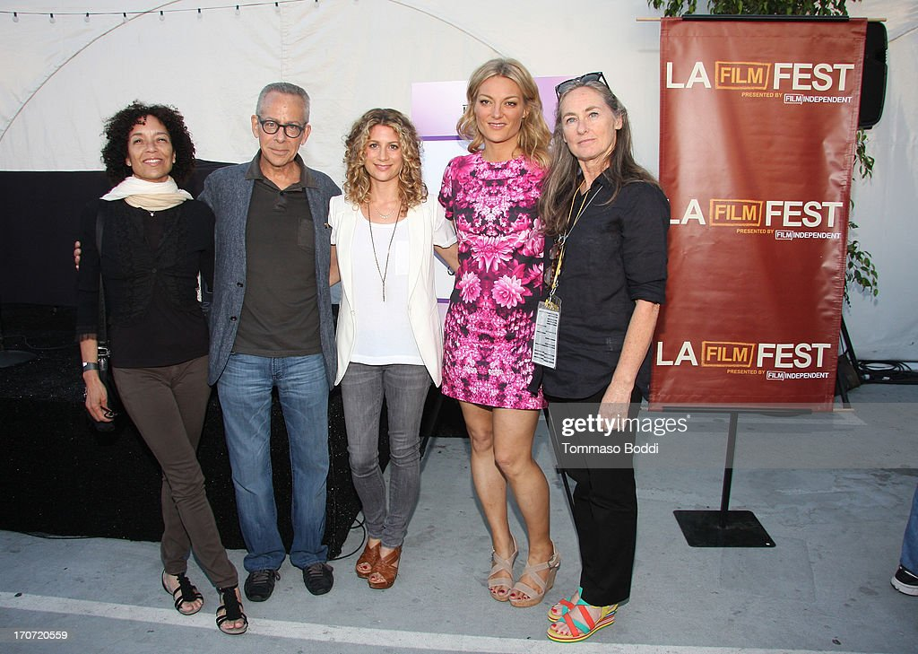 Director <a gi-track='captionPersonalityLinkClicked' href=/galleries/search?phrase=Stephanie+Allain&family=editorial&specificpeople=2079610 ng-click='$event.stopPropagation()'>Stephanie Allain</a>, LAFF Artistic Director David Ansen, HBO Documentary Films VP Sara Bernstein, 'The Crash Reel' Director/Producer <a gi-track='captionPersonalityLinkClicked' href=/galleries/search?phrase=Lucy+Walker&family=editorial&specificpeople=3079373 ng-click='$event.stopPropagation()'>Lucy Walker</a> and Film Independent Chair of the Board of Directors Mary Sweeney attend the HBO Docs Reception during the 2013 Los Angeles Film Festival at L.A. Live Event Deck on June 16, 2013 in Los Angeles, California.