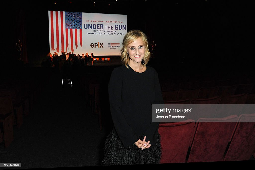 Director Stephanie Soechtig attends the 'Under The Gun' LA premiere featuring Katie Couric and Stephanie Soechtig at Samuel Goldwyn Theater on May 3...