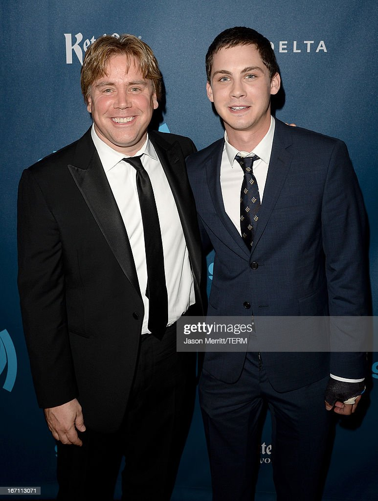 Director Stephen Chbosky and actor Logan Lerman arrive at the 24th Annual GLAAD Media Awards at JW Marriott Los Angeles at LA LIVE on April 20 2013...