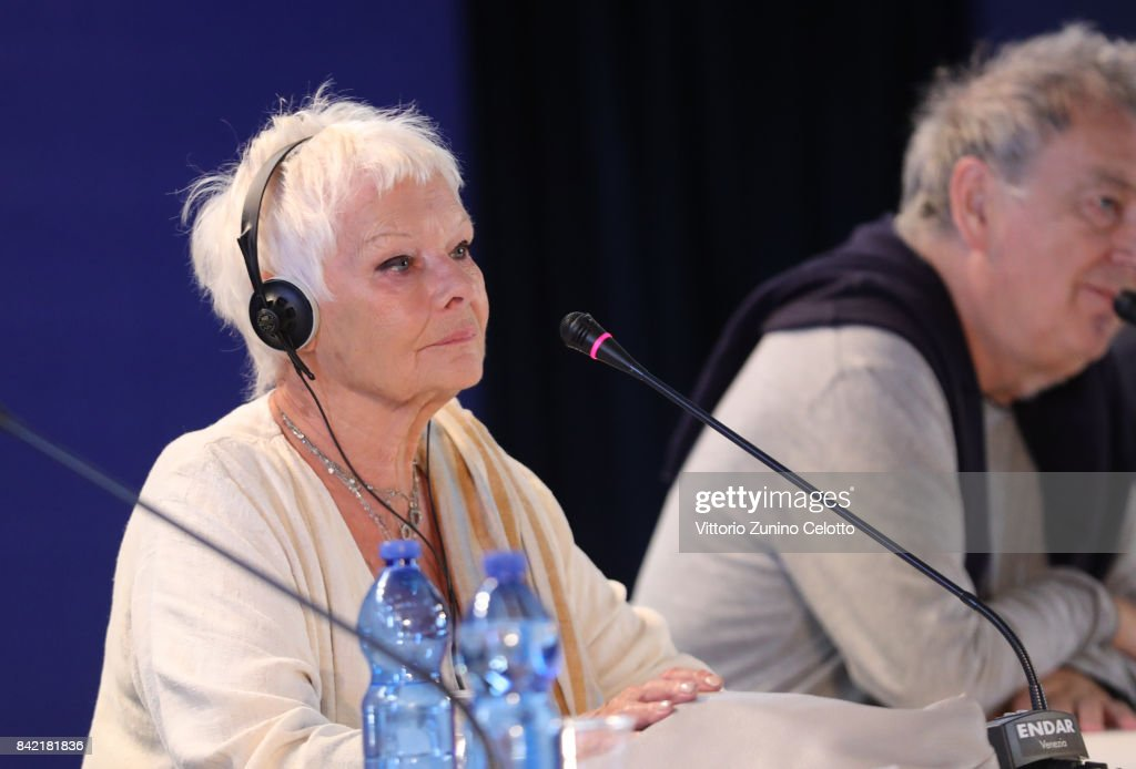 Director Stephen Frears and Judi Dench attend the Victoria & Abdul and Jaeger-LeCoultre Glory to the Filmmake Award Press Conference during the 74th Venice International Film Festival at Palazzo del Casino on September 3, 2017 in Venice, Italy.