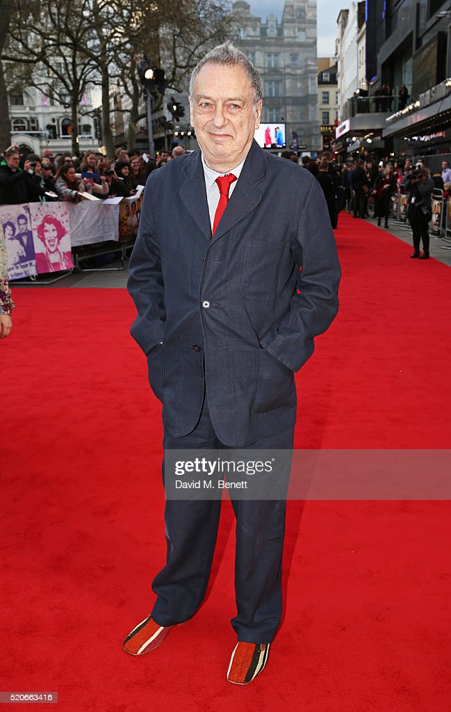 Director Stephen Frears arrives for the UK film premiere Of 'Florence Foster Jenkins' at Odeon Leicester Square on April 12 2016 in London England
