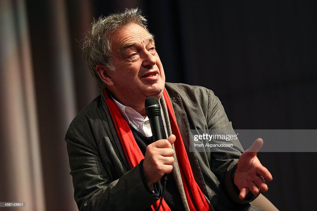 Director Stephen Frears speaks onstage during a Q&A at the 'Philomena' Town Hall Event and Screening at Museum Of Tolerance on December 19, 2013 in Los Angeles, California.