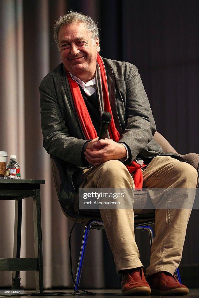 Director Stephen Frears speaks onstage during a QA at the 'Philomena' Town Hall Event and Screening at Museum Of Tolerance on December 19 2013 in Los...