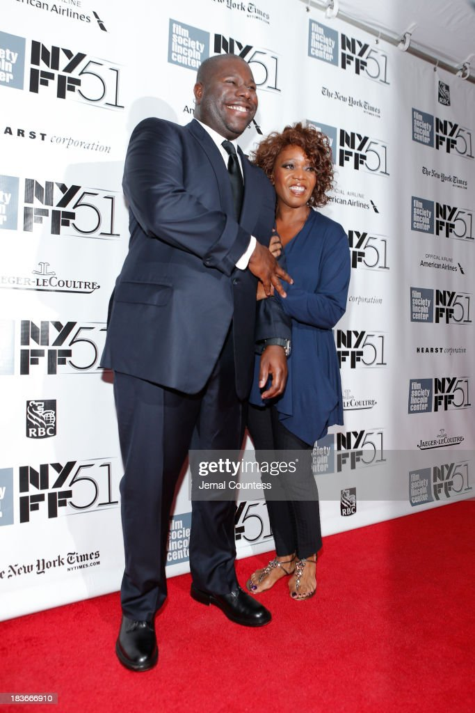Director Steve McQueen (L) and actress <a gi-track='captionPersonalityLinkClicked' href=/galleries/search?phrase=Alfre+Woodard&family=editorial&specificpeople=220969 ng-click='$event.stopPropagation()'>Alfre Woodard</a> attend the '12 Years A Slave' premiere during the 51st New York Film Festival at Alice Tully Hall at Lincoln Center on October 8, 2013 in New York City.
