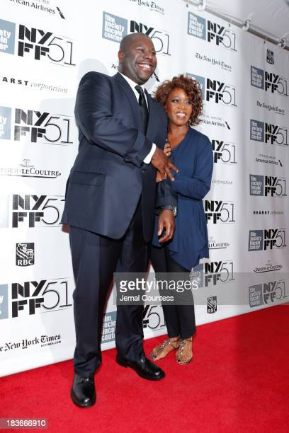 Director Steve McQueen and actress Alfre Woodard attend the '12 Years A Slave' premiere during the 51st New York Film Festival at Alice Tully Hall at...