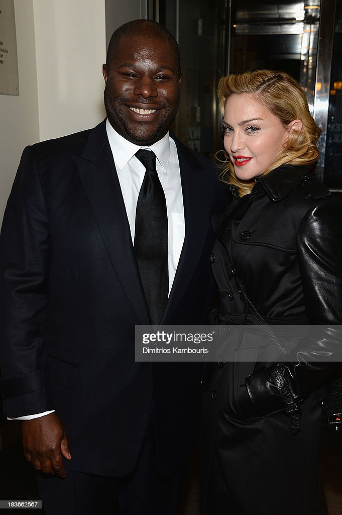 Director Steve McQueen and <a gi-track='captionPersonalityLinkClicked' href=/galleries/search?phrase=Madonna+-+Singer&family=editorial&specificpeople=156408 ng-click='$event.stopPropagation()'>Madonna</a> attend the '12 Years A Slave' premiere during the 51st New York Film Festival at The Film Society of Lincoln Center, Walter Reade Theatre on October 8, 2013 in New York City.