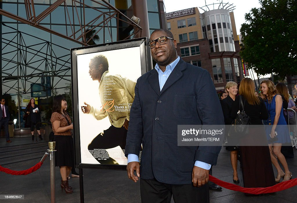 Director Steve McQueen arrives at the Los Angeles premiere of '12 Years A Slave' at Directors Guild Of America on October 14, 2013 in Los Angeles, California.